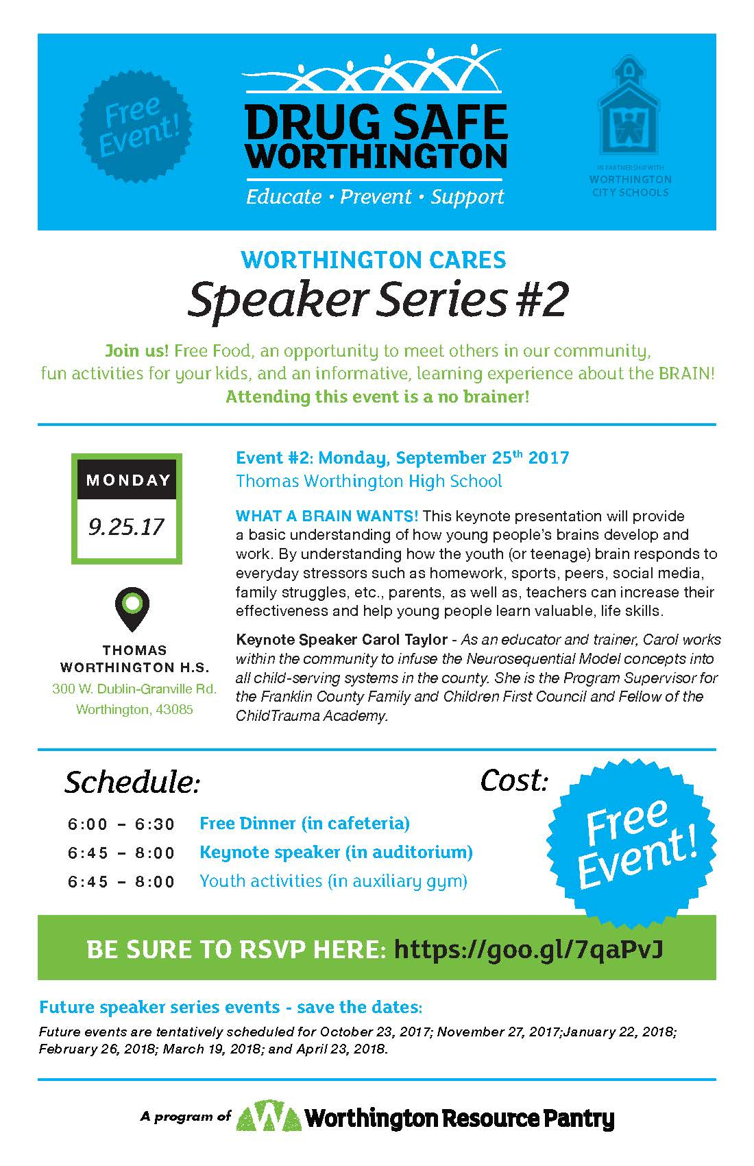 Worthington Cares Speaker Series-September 25