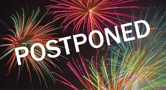 Fireworks postponed