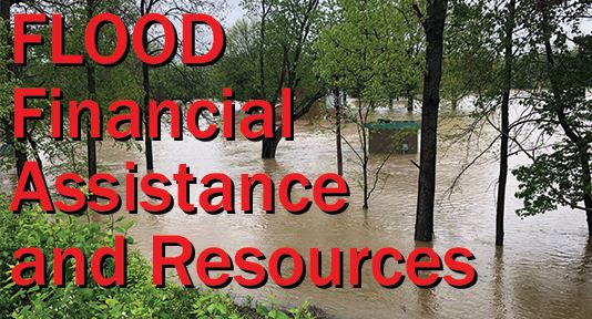 Flood Financial Assistance and Resources graphic