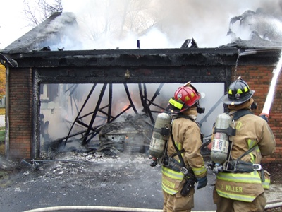 Fighting a structure fire