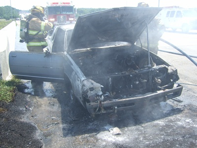 Car that caught on fire