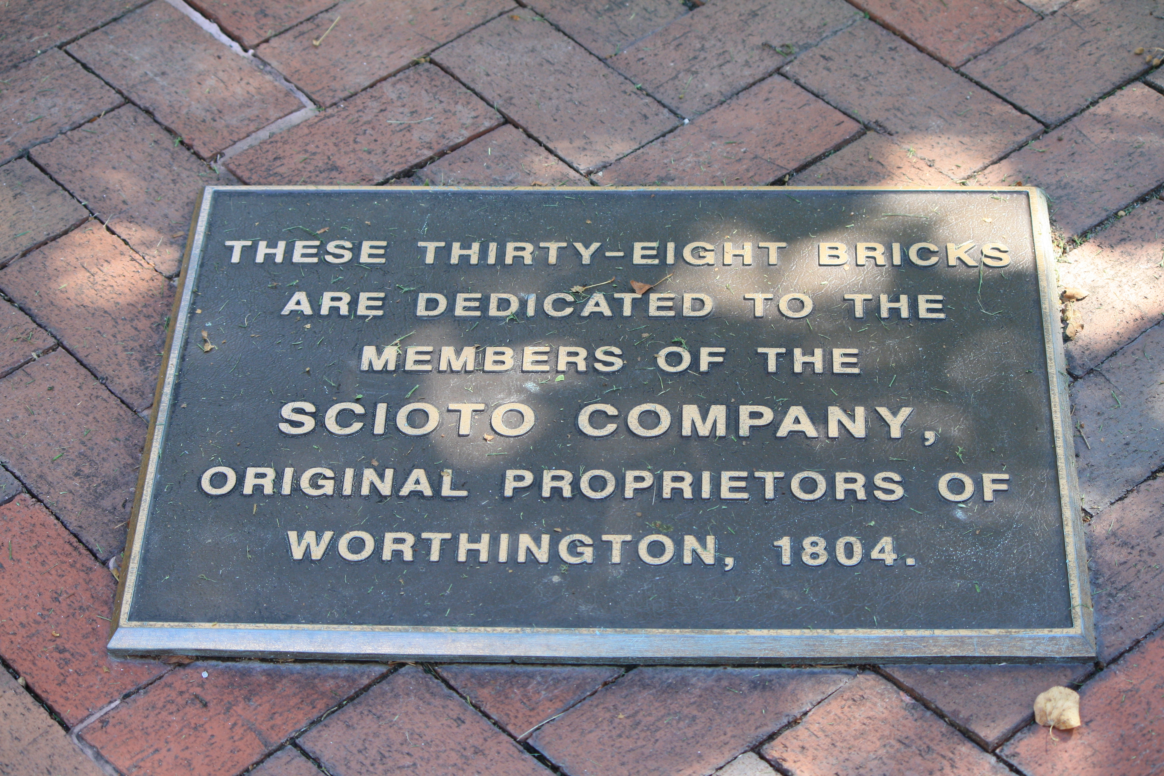 VillageGreen, Memorial Brick sign