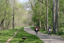 People biking on a recreation path