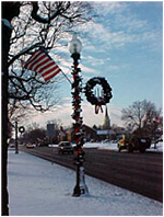 Light pole decorations